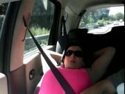branlee dans la voiture