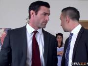 Rachel Starr manipulates two fuckboys with her sexy body
