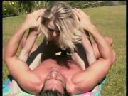 Hot blond sucking pecker and riding it