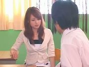 Japanese teacher in stocking 14-1