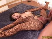 Leopardskin asian pussypounded