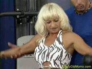 Crazy old mom gets fucked hard in her pierced pussy
