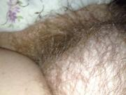 rubbing the wife soft hairy chubby mound,