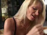 hot german milf strokes and sucks nice cock