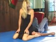 hot blond is smothering her slave