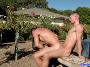 Sixpack stud cockriding jock in rosegarden