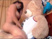 Latin Chick Fucking Giant Teddy Bear