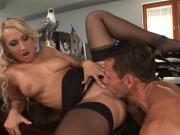 Nina Moonlight secretary black stockings sex