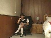 ERIKA SCHOOLGIRL SHEMALE SKIPS SCHOOL TO PLAY WITH HER SELF