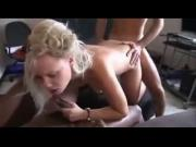 Gangbang with a young french blonde