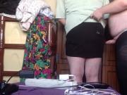 Cum mini skirt