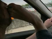 UI039-Driving with Giulia- Foot Smothering in the Car