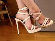 Beautiful legs, feet and high-heel sandals 7