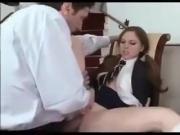 Hot schoolgirl fucking an older guy