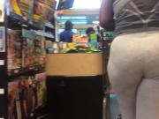 Bubble Booty VPL Grey Leggings Checkout Line