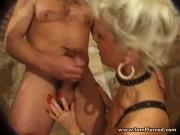 I am Pierced mature taking BBC up her ass pussy Piercings