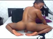 Brazilian Stallion Rides & Booty Twerks on her Dildo!!