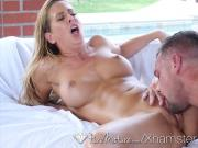 PureMature Blonde MILF Cherie DeVille lube up anal fuck pool
