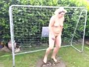 Wife pees in the goal