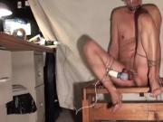 Tied and vibrated orgasm