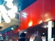 Couple caught in public restaurant