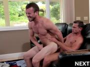 Two big dick hunks get it on while wife is away shopping