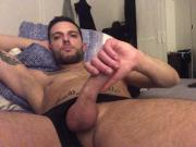 Stoned Straight Hunk jerks off his hard cock cam show
