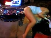 More upskirt girls on mechanical bulls