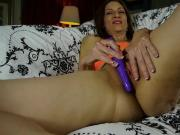 Kinky old spunker talks dirty and fucks her juicy pussy