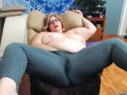 Mature BBW webcam saggy tits