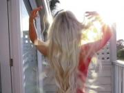 Hot Norwegian Blonde Goddess - Tits Show & Hair Play