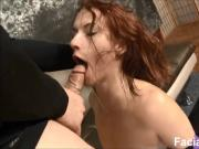 new First timer Chastity Mae makes a mess at Face Fucking