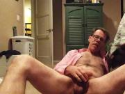 Jerking off and cumshot in bedroom for you