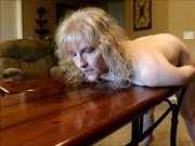 blonde stupid old fuck meat