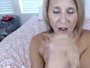Dirty talking blonde mom big-boobs, huge-tits