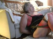 Mature Dana tied in Red Fully Fashioned Stockings