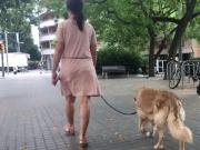 milf walking in barcelona - slow motion