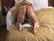 Thick Ass Wife Oiled Up & Fingered