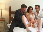 Pregnant lady fucked and DP'd Hard by two guys