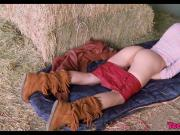 Horny Teen Babe on the farm