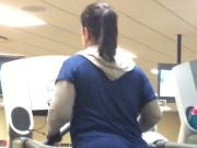 Big booty Latina on treadmill LA FITNESS Boston MA