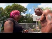 Phat Black Ass Goes to the Basketball Court