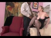 Sensational milf with big tits receiving a BBC