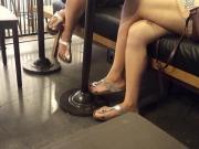 candid girl nice long crossed legs sexy feets