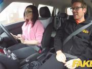 Fake Driving School American Teen Creampied by Instructor
