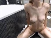 Playing Toys in the Bathroom Cum My Pussy