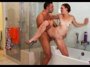 Redhead Teen gets wet