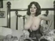 Kitten Natividad Plays with Her Huge Tits 1970s Vintage