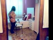 bbw wife hot striptease