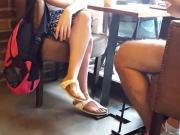 girl crossed legs sexy long feets in birkens